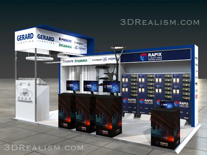 Exibition Stand Visualization - 3D Realism